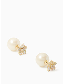 Blooming Pave Reversible Earrings by Kate Spade