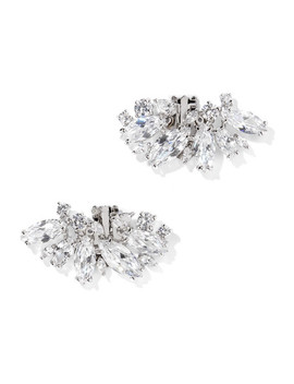 Rhodium Plated Cubic Zirconia Shoe Clips by Kenneth Jay Lane