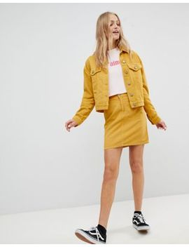 Asos Cord Original Skirt Co Ord In Mustard by Asos Design