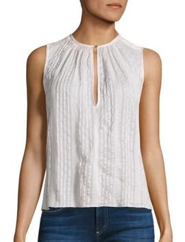 Striped Silk Top by Rebecca Taylor