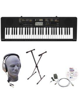 Casio Inc. Ctk2400 Epa 61 Key Premium Keyboard Package With Samson Hp30 Headphones, Stand, Power Supply, Usb Cable And E Media Software by Casio