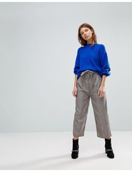 Pull&Bear Heritage Check Tie Waist Pants by Pull&Bear
