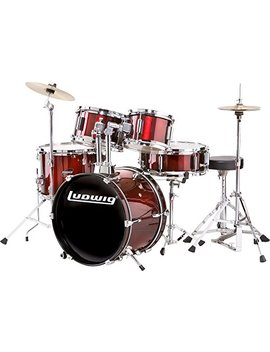Ludwig Junior Outfit Drum Set Wine Red (Wine Red) by Ludwig