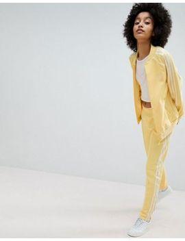 Adidas Originals Adicolor Three Stripe Jacket & Track Pants In Yellow by Asos Brand