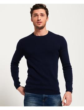 Supima Cotton Crew Neck Sweatshirt by Superdry