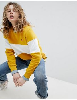 Converse Cons Skate Sweatshirt In Yellow And White by Converse