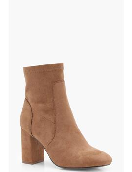Zoe Square Toe Sock Boot by Boohoo