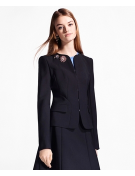 Double Weave Stretch Wool Jacket by Brooks Brothers