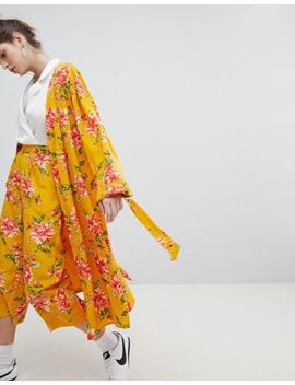 Neon Rose Kimono In Vintage Bloom Co Ord by Neon Rose