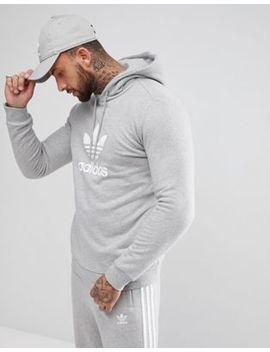 Adidas Originals Adicolor Hoodie With Trefoil Logo In Gray Cy4572 by Adidas Originals