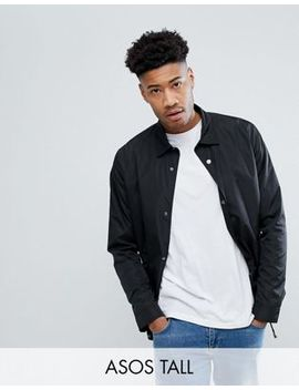 Asos Tall Coach Jacket In Black by Asos