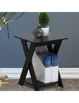 Artesian Modern Simplistic Criss Crossed End Table by Ebern Designs