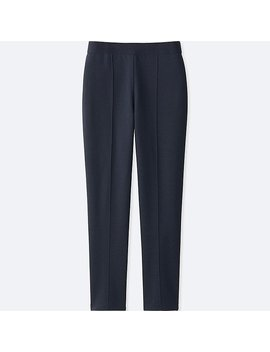 Women Ponte Slim Pants by Uniqlo
