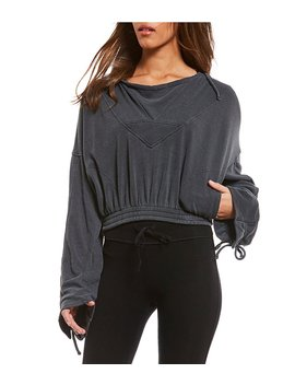 Free People Fp Movement Ojai Tie Sleeve Hoodie Top by Free People