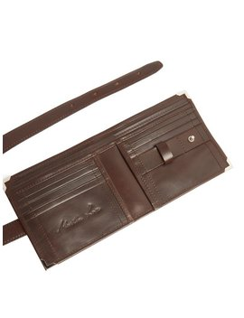 Leather Wallet Belt by Martine Rose
