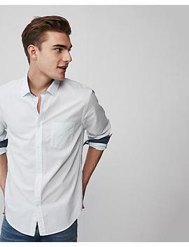 Stripe Soft Wash Button Down Shirt by Express