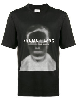 Black Ghost Face T Shirt by Helmut Lang