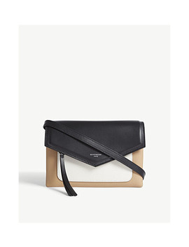 Duetto Tricol Leather Cross Body Bag by Givenchy