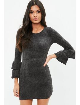 Grey Multi Frill Jumper Dress by Missguided