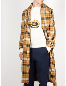 House Checked Belted Wool Coat by Burberry