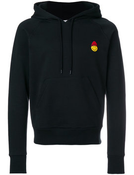 Hoodie With Smiley Patch by Ami Alexandre Mattiussi