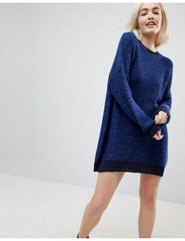 Asos Oversized Sweater Dress In Twist Yarn by Asos Collection