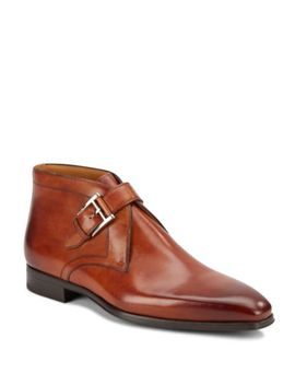 Double Monk Strap Leather Derbys by Saks Fifth Avenue By Magnanni