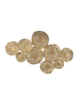 Aurelle Home Large Gold Circles Metal Art Wall Decor by Aurelle Home