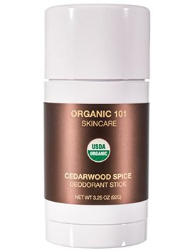 Organic 101 Cedarwood Spice Usda Certified, All Natural, Extra Strength Deodorant No Aluminum, Parabens, & Other Toxic Chemicals,... by Organic 101