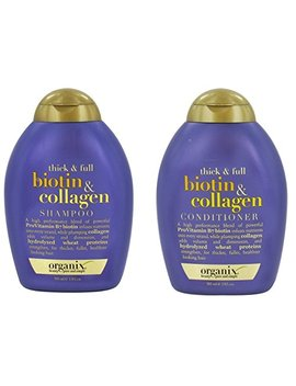 Organix Thick And Full Biotin And Collagen Shampoo & Conditioner Set, 13 Ounce Each by Organix