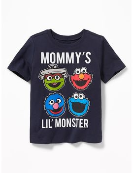 "Sesame Street® ""Mommy's Lil' Monster"" Tee For Toddler Boys by Old Navy"