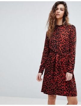 Warehouse Leopard Print Shirt Dress by Warehouse