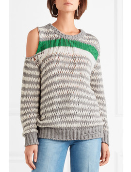 Clapish Cold Shoulder Striped Cotton Blend Sweater by Iro