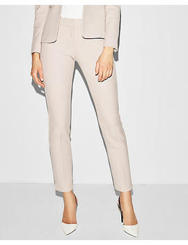 Mid Rise Straight Leg Waffle Stretch Columnist Pant by Express