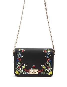 Embroidered Faux Leather Crossbody by F21 Contemporary