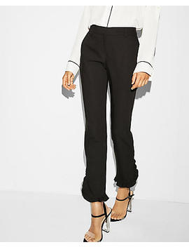 Mid Rise Ruffle Hem Columnist Ankle Pant by Express