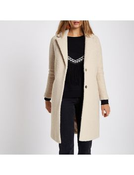 Cream Boucle Coat                                  Cream Boucle Coat by River Island