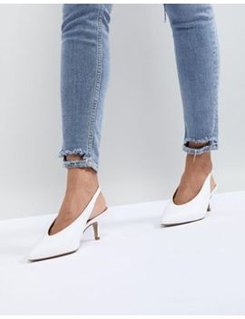 Carvela Amy White Point Leather Kitten Heels by Carvela