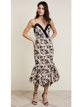 Eloquence Floral Strapless Midi Dress by Talulah