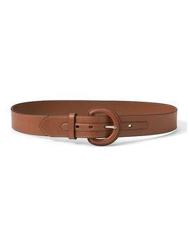 Solid Leather Waist Belt by Banana Repbulic