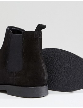 River Island Suede Boots In Black by River Island