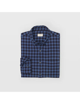 Buffalo Plaid Crinkle Shirt by Club Monaco