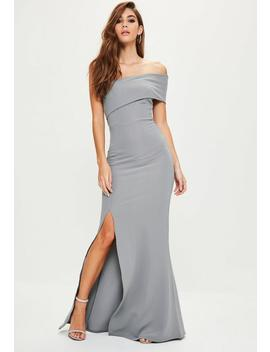 Grey One Shoulder Maxi Dress by Missguided