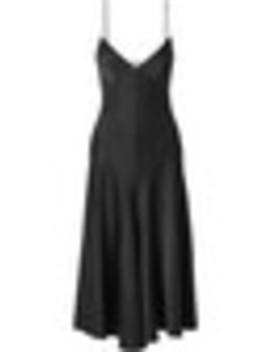 Carolina Satin Crepe Midi Dress by Khaite