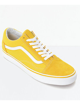 Vans Old Skool Spectra Yellow & White Skate Shoes by Vans