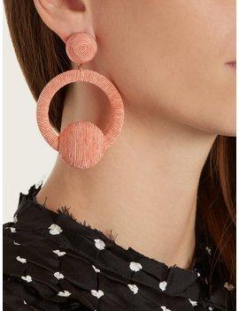 Laeticia Hoop Drop Earrings by Rebecca De Ravenel