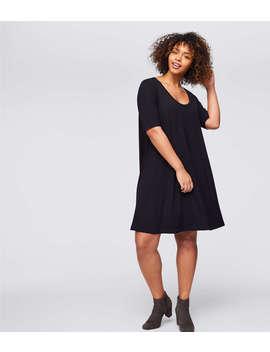 Loft Plus Short Sleeve Swing Dress by Loft