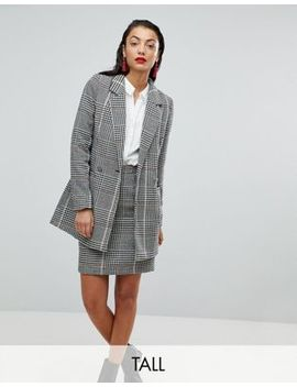 Vero Moda Tall Longline Check Blazer by Vero Moda Tall