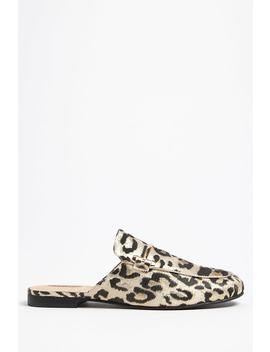 Leopard Print Loafer Mules by Forever 21