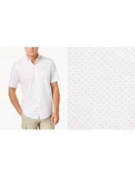 Men's Dot Print Cotton Shirt by Club Room